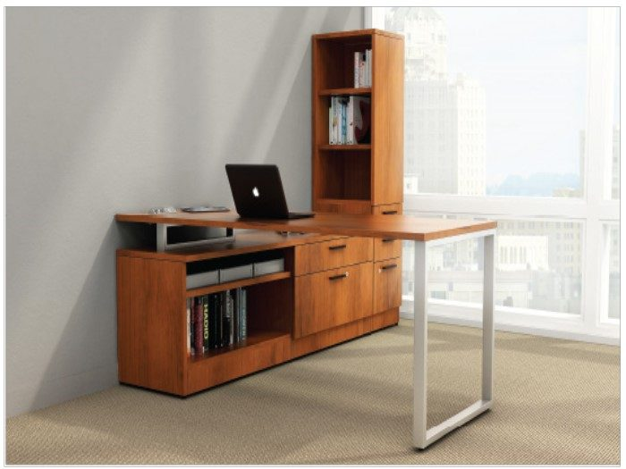 L-Desk Suite with custom storage