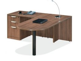 Modern Walnut Bullet Top Desk