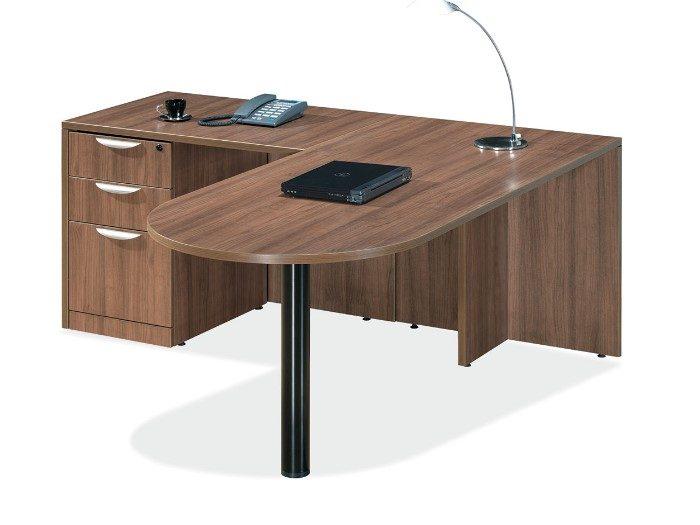 Modern Walnut Bullet Top Desk