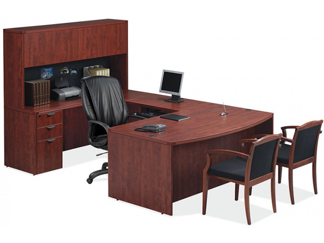 OfficeSource Cherry Executive Desk Set Capital Choice Office Furniture Beauteous Capital Choice Office Furniture Collection