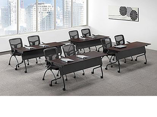 Officesource flip top nesting tables capital choice