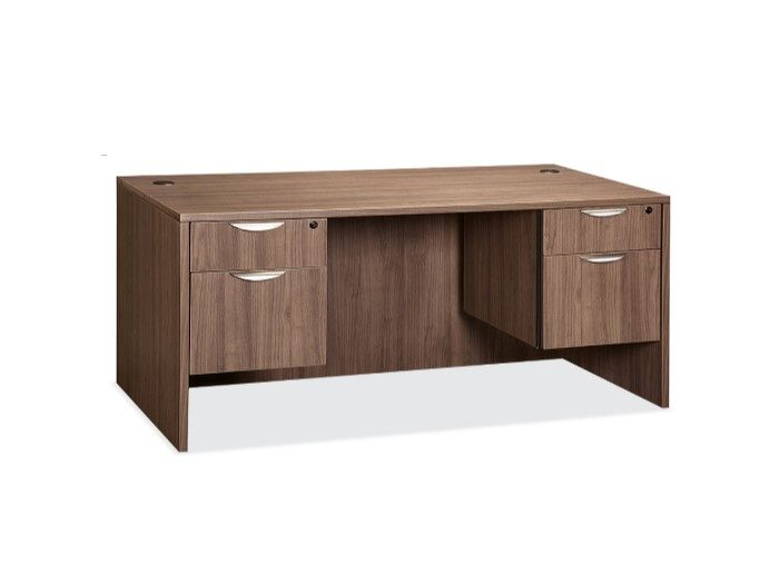 Laminate 48848 Double Pedestal Desk Capital Choice Office Furniture Beauteous Capital Choice Office Furniture Collection