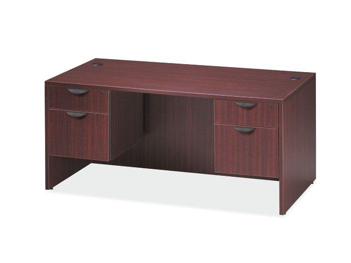 Mahogany Finish Single Desk
