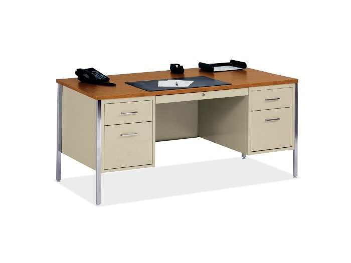 Double Pedestal Metal Desk