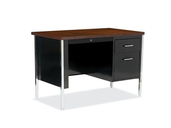 Single right Pedestal Metal Desk