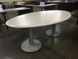 White Oval Conference Table