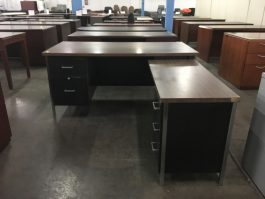 L-Shaped Metal Desk