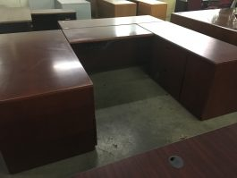 Dark Cherry U-Desk