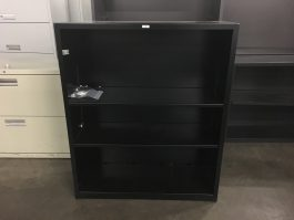 Black Three Shelf Bookcase