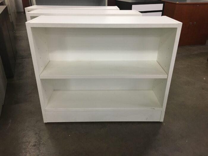 White Two Shelf Bookcase