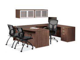 Modern Walnut - U Desk