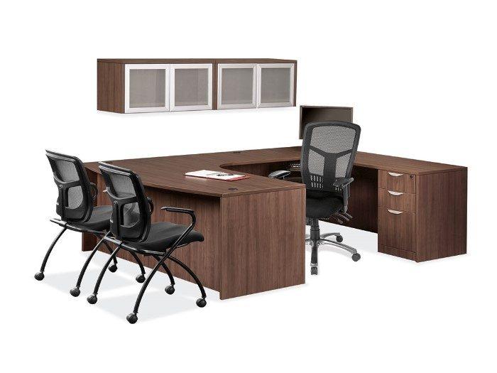 Modern Walnut - U Desk