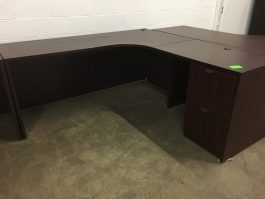 Mahogany L-Shaped Desk