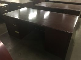Dark Cherry Single Desk