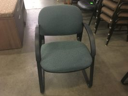 Green Sled Base Chair