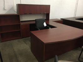 Cherry U-Shaped Desk