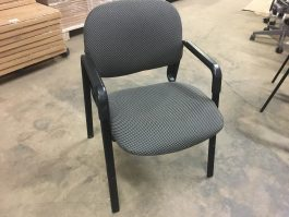 Gray and Black Guest Chair