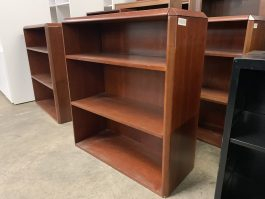 3-Shelf Cherry Bookcase