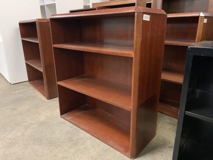 3-Shelf Cherry Bookcase