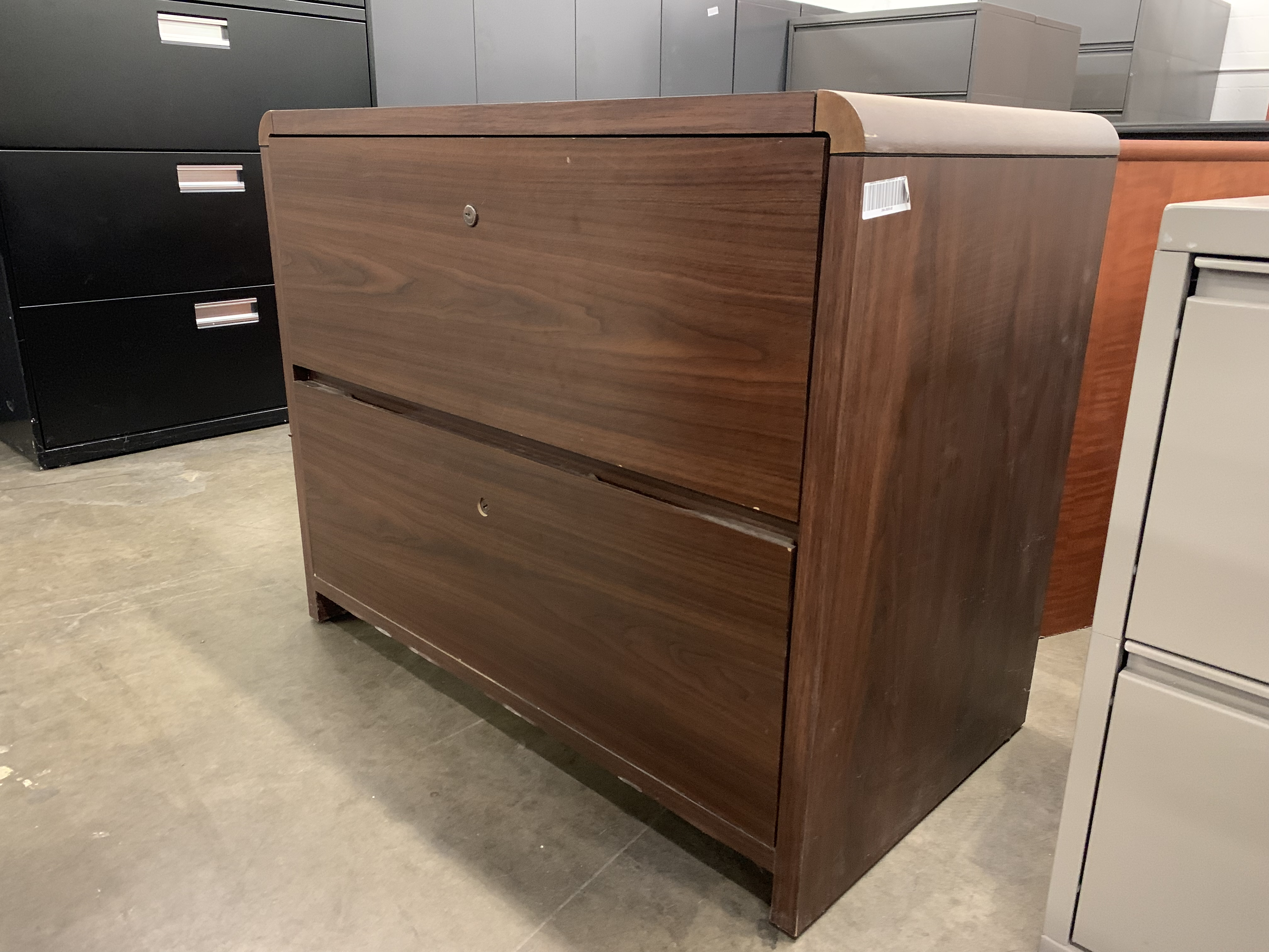 Walnut 2 Drawer Lateral