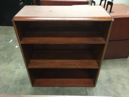 Cherry 3-Shelf Bookcase