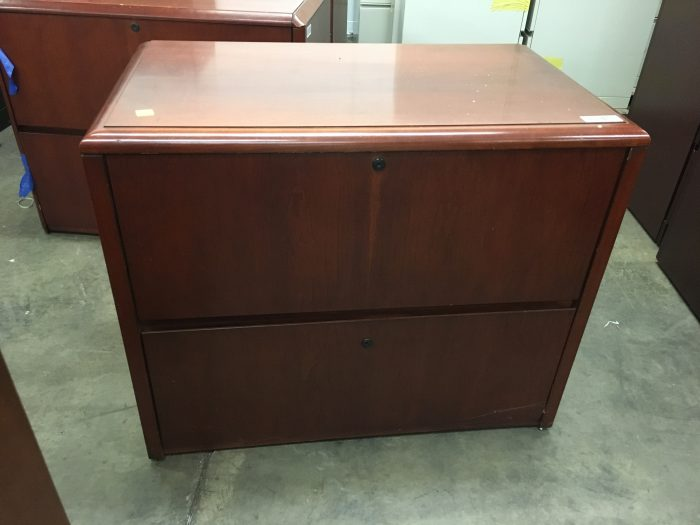 Cherry 2-Drawer Lateral File