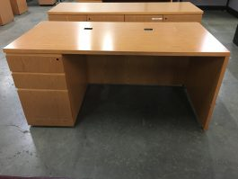 Knoll Oak Desk