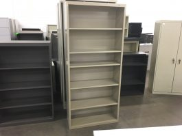 Tan 6-Shelf Bookcase