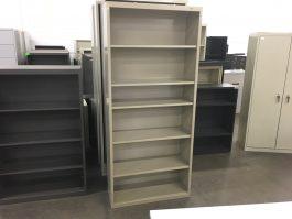 Tan 6-Shelf Bookcase