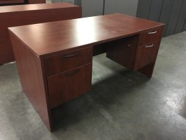 Cherry Single Desk