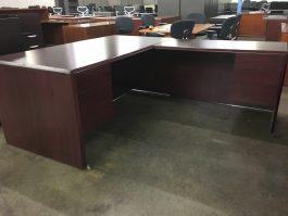 HON Mahogany L Desk