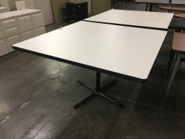 Used White Cafe Table