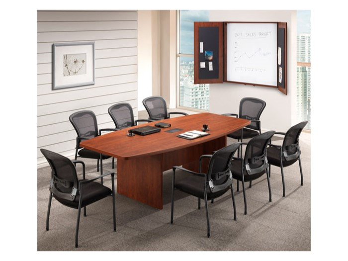Boat Shaped Conference Table Capital Choice Office Furniture - Conference table chairs with wheels