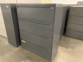 4-Drawer Lateral Dark Gray