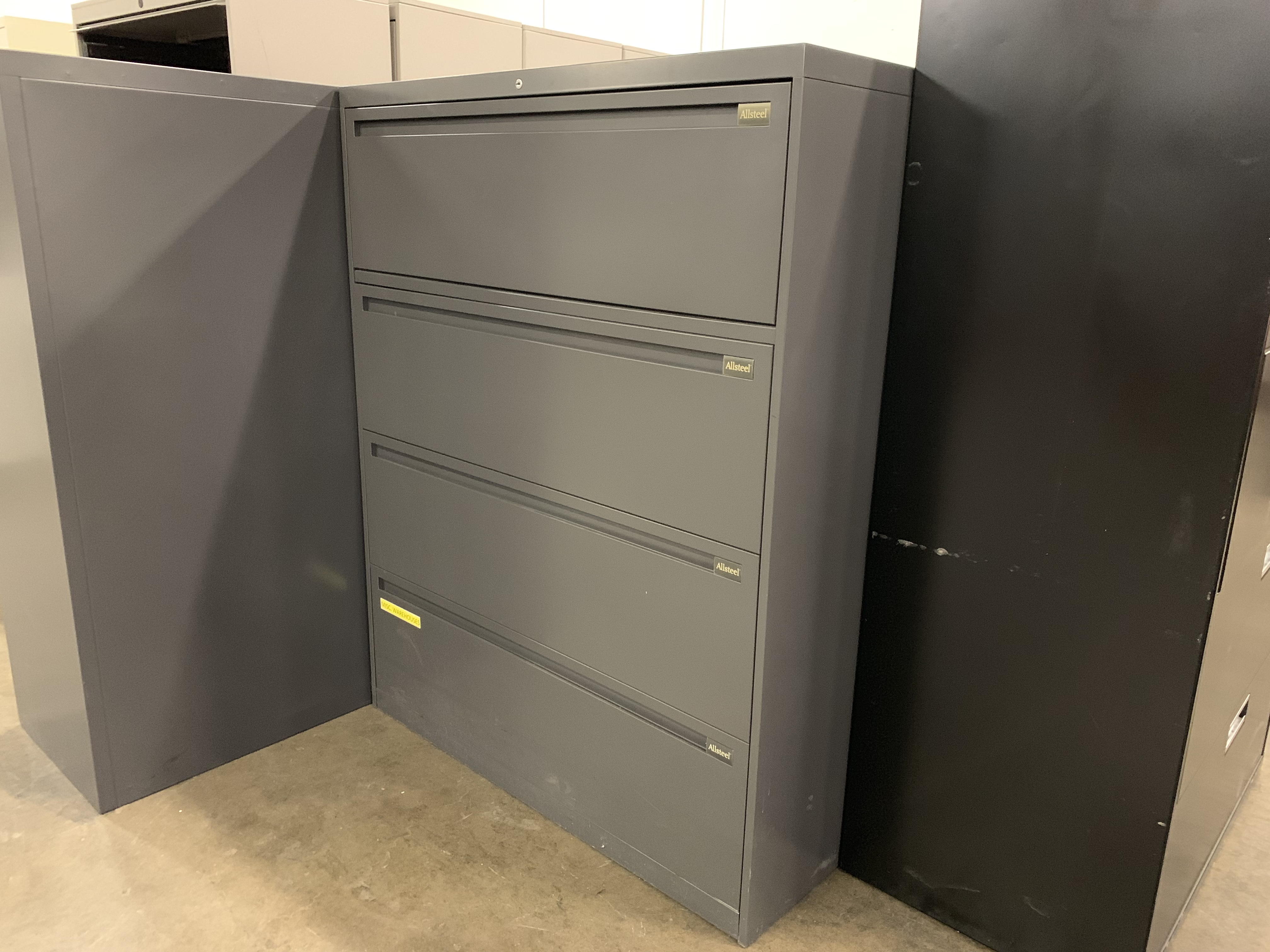 4 Drawer Dark Gray Lateral File Cabinet