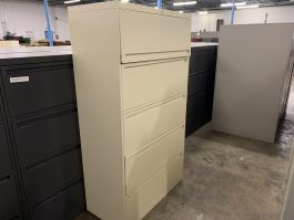 Tan 5-Drawer Lateral