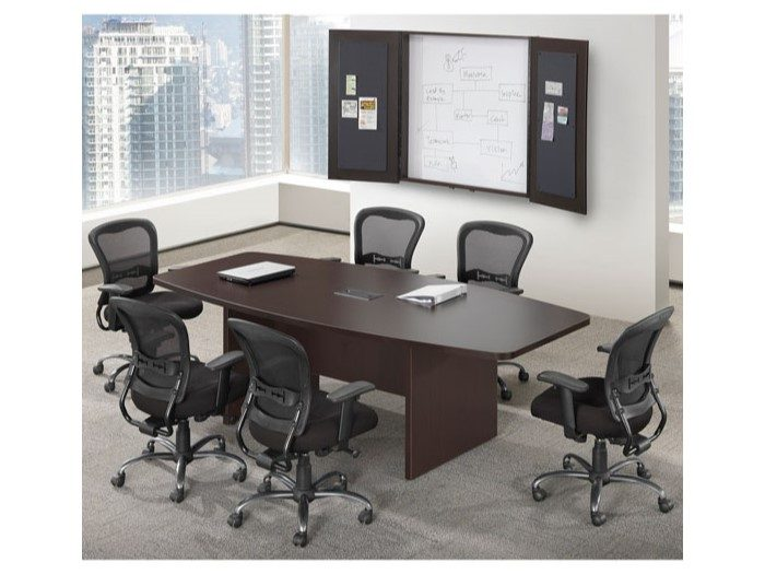 Boat Shaped Conference Table Capital Choice Office Furniture - Desk with meeting table