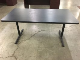 Black folding table