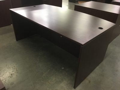 Used Bowfront Office Desk Shell