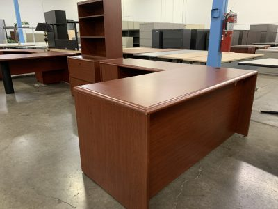 National Cherry L-Desk