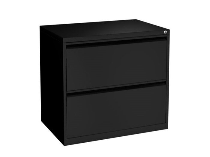 New 2 Drawer Lateral File in Black