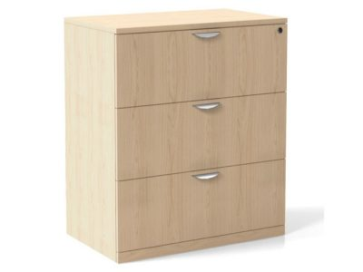 Laminate 3-Drawer Lateral File
