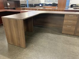 Walnut L-Shaped Desk