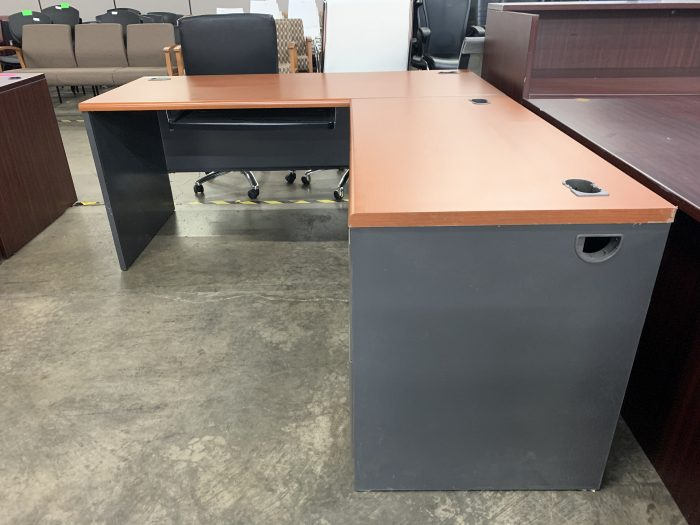 Metal Desk with Laminate Top - Side