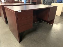 HON Mahogany Single Desk