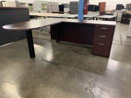 Indiana Mahogany L Desk