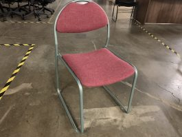 Red Fabric Stack Chair
