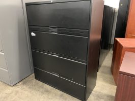 Black 4-Drawer Lateral File Cabinets