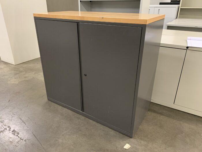 Oak Top Storage Cabinet