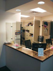 Reception Desk Protective Barrier